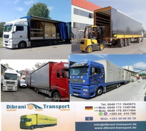 Dibrani Trasport nga Belgjika për Kosovë